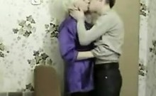 Blonde Russian Mother Gives Her Lover Head