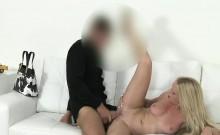 Blonde milf fucking fake casting agent