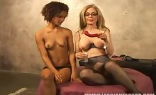 Nina Hartley Fucking A Gorgous Ebony With Toys