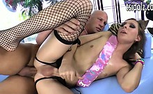 Lovely shemale Sienna Grace assfucked