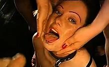 Messy Bukkake Cum Facial Sperm Play