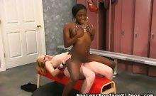 Interracial lesbian slaves sex