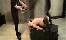 Black Stockings Bound Whipped And Made To Orgasm