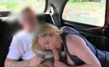 Hot amateur whore fucked in the backseat