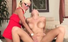 Two women Rikki Six and Nikita Von James sharing hard cock