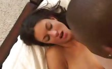 White Babe Taking Deep Black Cock Cramming