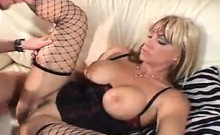 Horny MILF In Fishnet Stockings