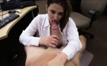 Huge hooters business woman fucked with pawn keeper