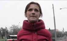 Czech amateur babe banged in public